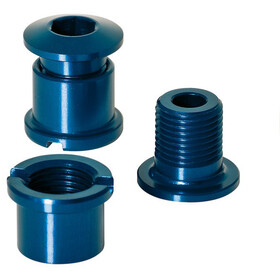 XLC Chain Ring Bolts 16g, with thread, set of 5 blue